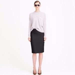 J.Crew No. 2 Pencil Skirt Double Serge Cotton Sz 4